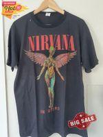 Nirvana Utero Tour T-shirt Vintage Look Retro T-shirt, Nirvana Band Shirt, Nirvana Shirt, Rock Band, Gift For Men Women, Funny Shirt