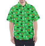 Mickey Halloween Print Button Up Hawaii Beach Shirt, Love Disney Summer Shirt