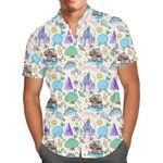 Walt Disney World Park Icons Light - Men's Button Down Short-Sleeved Hawaii Shirt