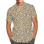 Mouse Ears Animal Print - Disney Inspired Men's Button Down Short-Sleeved Hawaii Shirt