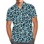 Bright Blue Leopard Print - Toy Story Ken Inspired - Men's Button Down Short-Sleeved Hawaii  Shirt