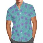 Sully Fur Monsters Inc Disney Inspired - Men's Button Down Short-Sleeved Hawaii Shirt
