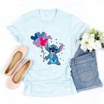 Disney Balloon Shirt, Stitch Shirt, Stitch Balloons Shirt, Disney Balloon T-Shirt, Disneyland Shirt, Women Disney Shirt, WDW Shirts