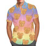 Mickey Waffles Rainbow Disney Inspired - Men's Button Down Short-Sleeved Hawaii Shirt
