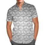 EPCOT Icon Disney Parks Inspired - Men's Button Down Short-Sleeved Hawaii Shirt