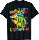 Back to school 2021 - I'm Ready To Crush Kindergarten T Rex Dino Holding Pencil  Youth, Adult T-Shirt