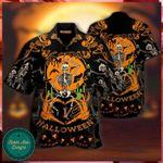 Dancing Skeleton Halloween Hawaii Shirt - Halloween Short-Sleeve Shirt - Hawaii Style