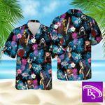 Horror Character Hawaiian Aloha shirt, Horror Hawaiian, Villains Hawaiian, Halloween Hawaiian,Summer Hawaiian