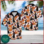 Black Cat Halloween Hawaii Shirt - Halloween Short-Sleeve Shirt - Hawaii Shirt