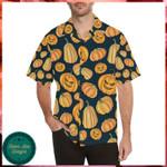 Pumpkin Halloween Pattern Hawaii Shirt - Halloween Short-Sleeve Shirt