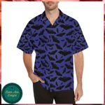 Bat Halloween Pattern Hawaii Shirt - Halloween Short-Sleeve Shirt