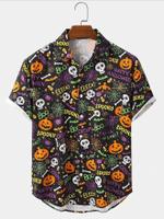 Light Halloween Cartoon Shirts  - Halloween Short-Sleeve Shirt