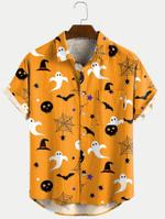 Halloween Pumpkin Ghost Cartoon Funny Shirts  - Halloween Short-Sleeve Shirt