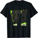 VI Graphic Tee Match Jordan 6 Electric Green T-Shirt T-Shirt