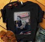 Michael Myers and Jason Voorhees Drink Dunkin' Donuts Shirt, Halloween Shirt, Horror Shirt, Scary Killer, Friday the 13th Jason Shirt
