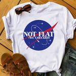 Nasa Shirt, Nasa Gift, Nasa Space Shirt, Nasa Space Gift, Nasa Hoodie, Nasa Shirt, Not Flat We Checked Tshirt