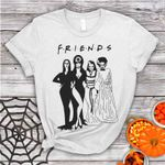 Halloween Friends Squad Goals Shirt,Elvira,Lily Munster,Morticia,Bride of Frankenstein Halloween Shirt,Horror Squad Queens