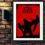 Awesome King Shark, Suicide Squad Movie Print Poster