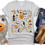 It's the Little Things, Halloween Little Things Doodles Shirt, Cute Halloween tshirt, Halloween Graphic Shirt, Spooky Mom Shirt