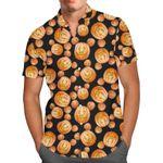 Mouse Ears Pumpkins Disney Halloween Inspired - Men's Button Down Short-Sleeved Hawaii Shirt