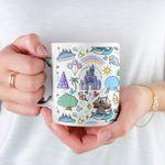 Disney World Doodle Coffee Mug, Disney Mug, Disney Parks, Disney Gifts, Disney Lover