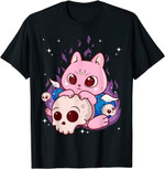 Cute Anime Kawaii Cat Aesthetic Kawaii Pastel Goth Clothes T-Shirt