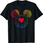 Disney Mickey Mouse Icon Heart Rainbow T-Shirt