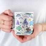 Disney World Doodle Coffee Mug, Disney Mug, Disney Gifts, Disney Lover, Disney Kitchen