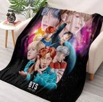BTS Photos Styles Blanket, Bangtan Boys Blanket, Kpop Band, BTS Art Gift For Fan