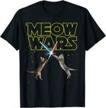 Meow Wars - Space Cat - Laser Cat - Funny Cat Lover Gift T-Shirt