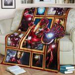 Iron Man Blanket, Avenger Blanket, Gift For Mar-vel Lover, Iron Man Tony Stark Blanket