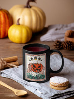 Tarot Card Halloween Mug, Pumpkin Mug, Witch Mug