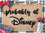 Disney doormat / Probably At Disney