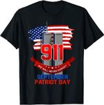 Never Forget 9/11 20th Anniversary Patriot Day 2021 America T-Shirt