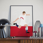 Jonny Wilkinson England Rugby Poster, Home Office decoration poster