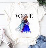 Disney Princess Elsa&Anna Shirt, Disney Princess Vogue Shirt