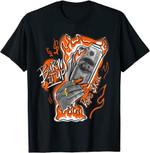 Burn It Up Match Jordan One Retro Electro Orange T-Shirt