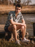 Outer banks Hawaiian shirt - OBX JOHN B SHORT SLEEVE SHIRT - BLUE FO