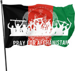 Pray for Afghanistan House Flag Indoor Outdoor Banner with Brass Grommets