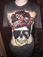 Halloween T Shirt, Michael Myers T Shirt, Mom Skull T Shirt, Spooky Skull T Shirt