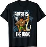 Disney Moana Maui Power Is In The Hook Portrait T-Shirt