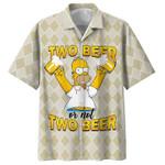 HOMER SIMPSON - TWO BEER OR NOT TWO BEER HAWAIIAN SHIRT