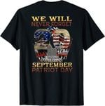 Never Forget Day Memorial 20th Anniversary 911 Patriotic T-Shirt
