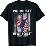 Never Forget 911 20th Anniversary American Flag Vintage T-Shirt