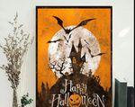 Horror Halloween Poster, Halloween Pumpkin Poster ,Happy Halloween Poster