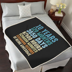 10th Anniversary Blanket For Couple, Husband & Wife, Him & Her