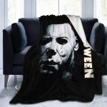 Halloween Michael Myers Ultra-Soft Warm Micro Fleece Throw Blanket Sherpa Plush Fleece Wearable Throw Blankets for Bed Couch Living Room