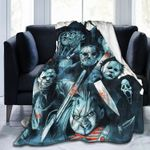 Horror Blanket,Michael Myers Halloween Horror Bed Blankets Bed Throws Soft Plush Warm Sofa Bed Blanket All Season, Comfortable Lightweight Super Soft Luxury Bed Blankets