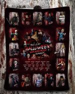 This is My Halloween Watching Movie Blanket Horror Characters Fleece Blanket, Gift for Horror Movie Fans, Halloween Bed Throw Blankets