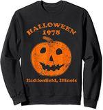 Halloween 1978 holiday spooky gift myers pumpkin haddonfield Sweatshirt